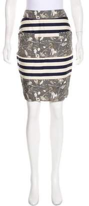 Opening Ceremony Striped Knee-Length Skirt w/ Tags