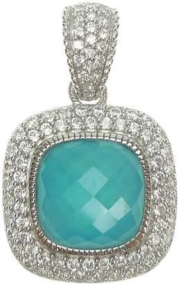 Judith Ripka Sterling Turquoise Doublet & Diamonique Enhancer