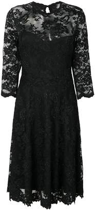 Olvi ́S flared lace-embroidered dress
