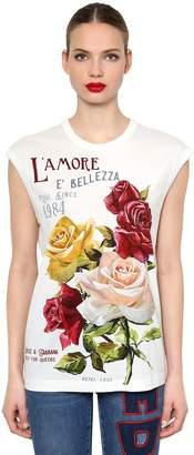 Dolce & Gabbana L'amore È Bellezza Print Jersey T-Shirt