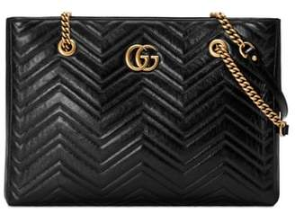 Gucci GG Marmont 2.0 Matelasse Medium Leather East/West Tote Bag