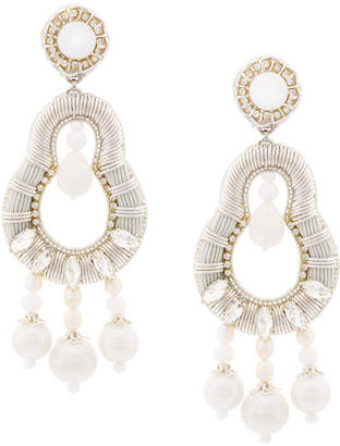 beaded long earrings