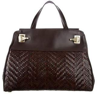 Kieselstein-Cord Woven Leather Bag