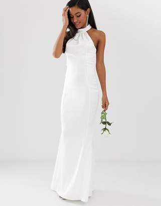 Lipsy bridal high neck maxi dress