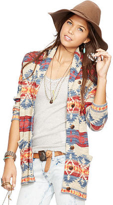 Ralph Lauren Denim & Supply Cotton Boyfriend Cardigan $145 thestylecure.com