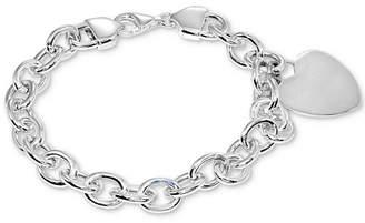 Giani Bernini Heart Charm Tag Bracelet in Sterling Silver