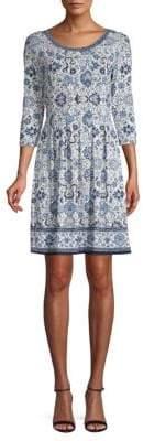 Max Studio Classic Floral A-line Dress