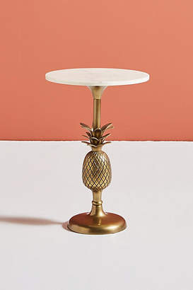Anthropologie Pineapple Pedestal Side Table