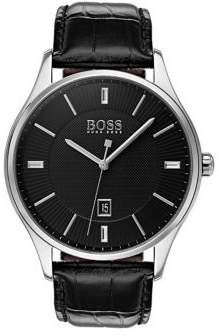 HUGO BOSS QTZ Leather Strap Jackson Watch
