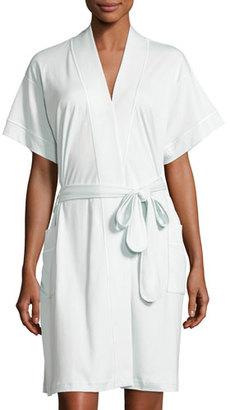 P Jamas Butterknit Short Wrap Robe, Light Blue $110 thestylecure.com