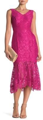 Nanette Lepore NANETTE V-Neck Sleeveless Lace Dress