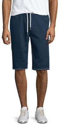 True Religion Contrast-Stitch Cutoff Shorts $129 thestylecure.com