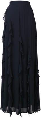 Max Mara ruffle flared maxi skirt