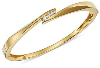Bloomingdale's Diamond Trio Channel Bangle in 14K Yellow Gold, 0.30 ct. t.w. - 100% Exclusive