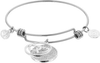 "Love This Life love this life ""Side By Side Or Miles Apart"" Double Heart Bangle Bracelet"