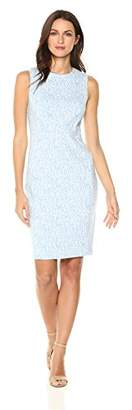 Calvin Klein Women's Sleeveless Textured Sheath Dress