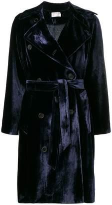 Kiltie velvet trench coat