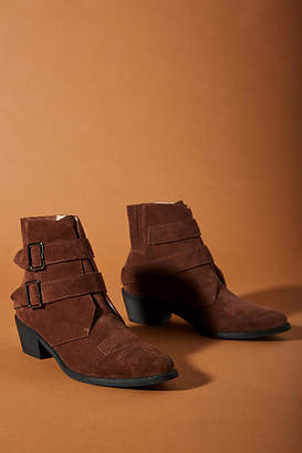 Anthropologie Buckled Ankle Boots