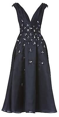 Carolina Herrera Women's Embellished Silk Cocktail Dress