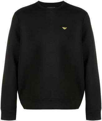 Emporio Armani embroidered logo sweatshirt