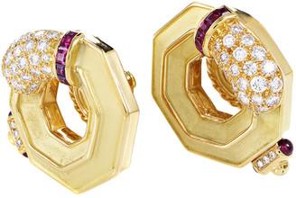 Chaumet Heritage  18K 2.40 Ct. Tw. Diamond & Ruby Earrings