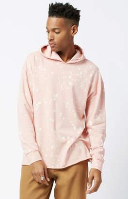 Pacsun Fontana Bleach Hooded Relaxed Long Sleeve T-Shirt