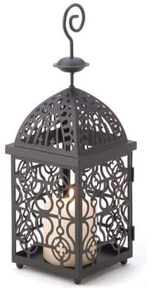 Gallery of Light Metal Candle Lantern Holder Stand Antique Iron Birdcage Hanging Candle Holder Classic Decorative Candleholder Lantern Brushed Black