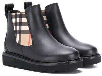 Burberry Hayden check Chelsea boots