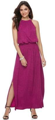 Apt. 9 Petite Strappy Blouson Maxi Dress