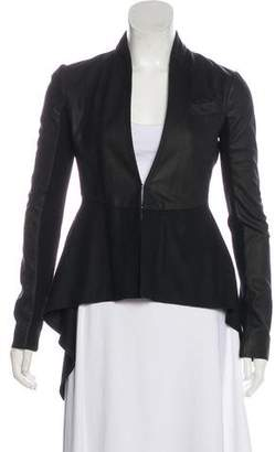 Veda Leather High-Low Coat w/ Tags