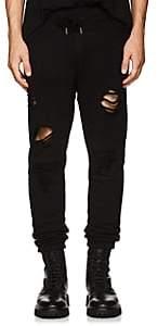 NSF Men's Milton Distressed Cotton Terry Jogger Pants - Black