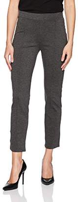 Three Dots Women's Ponte Pintucked Tight Long Pant