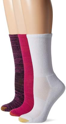 Gold Toe Women's Free Feed Athletic Sport Crew Sock 3-Pack