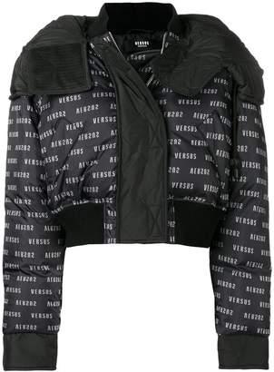 Versus monogram cropped puffer jacket