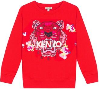 Kenzo Embroidered Tiger & Flower Sweatshirt