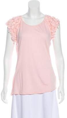 Ted Baker Sheer Short Sleeve Blouse