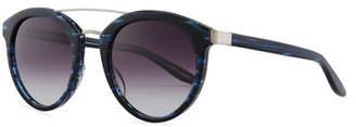 Barton Perreira Dalziel Round Sunglasses with Metal Bar