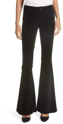 L'Agence Solana Velvet Flare Pants