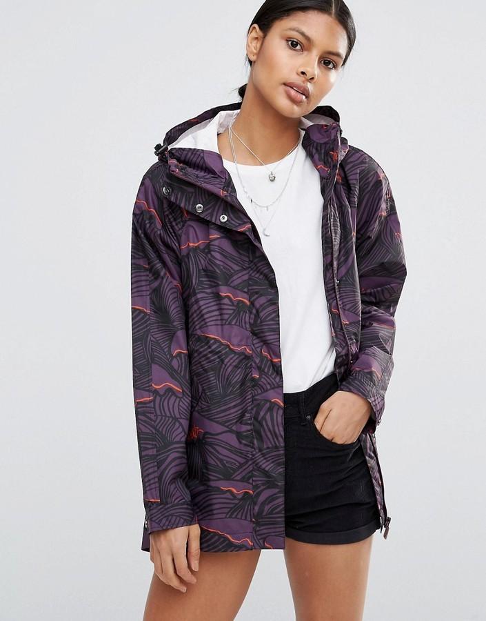 HunterHunter Original Wave Print Lightweight Raincoat