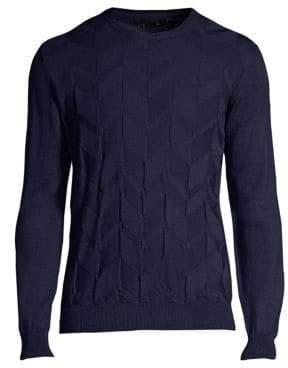 Corneliani Crewneck Chevron Sweater
