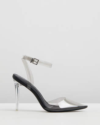 Missguided Clear Court Shoe Heels