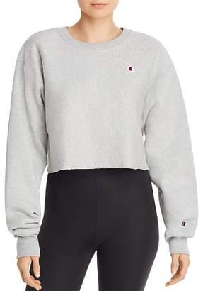 Champion Raw-Edge Cropped Sweatshirt
