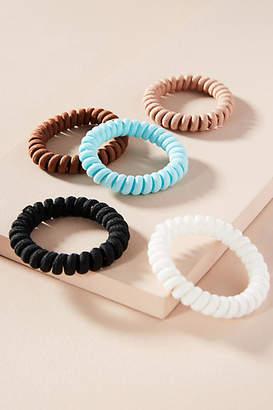 Anthropologie Coiled Elastic Hair Tie Set