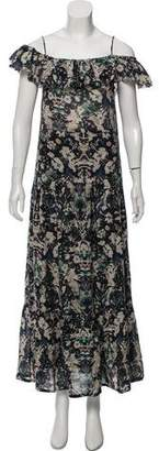 IRO Abstract Print Maxi Dress