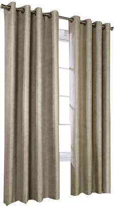 Asstd National Brand Navar Faux-Suede Blackout Grommet-Top Window Panel