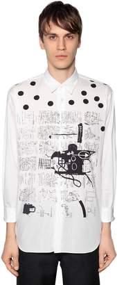 Comme des Garcons Basquiat Printed Poplin Shirt