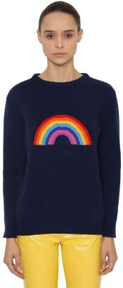 Alberta Ferretti Oversize Rainbow Wool & Cashmere Sweater