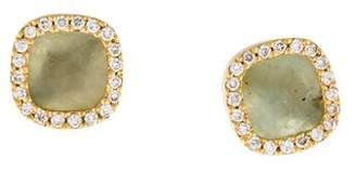 Monique Péan Quartzite & Diamond Stud Earrings