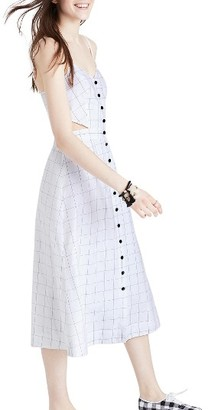 Women's Madewell Windowpane Cutout Midi Dress $138 thestylecure.com