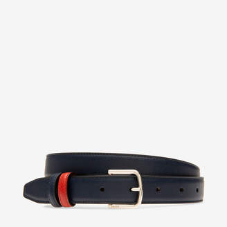 Bally Sofia 25Mm Blue, Women's grained calf leather fixed/reversible belt in ink